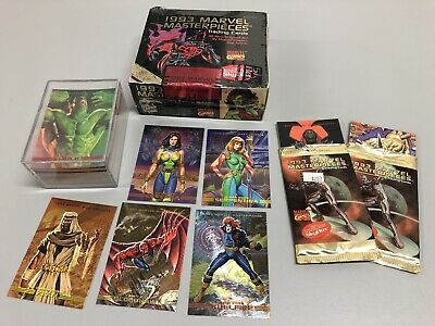 NEW Marvel Masterpieces 1993 Cards Factory Sealed Box Skybox 36 Packs + EXTRAS!!