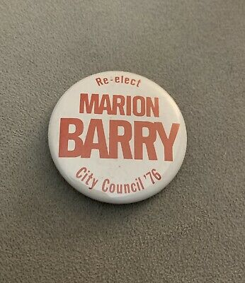 Marion Barry City Council Campaign Button 1976