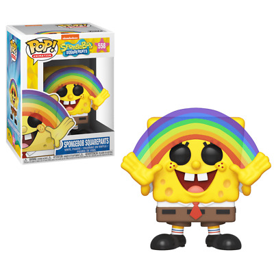 "New Pop Animation: Sponge Bob - Spongebob Rainbow 3.75"" Funko Vinyl COLLECTIBLE"