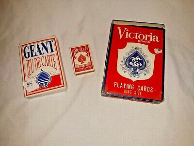GIANT SUPER JUMBO and MINIATURE PLAYING CARDS