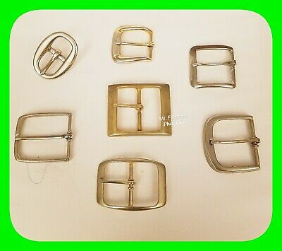 👀 Lot Of 7 Roller Buckles Various Sizes 👀