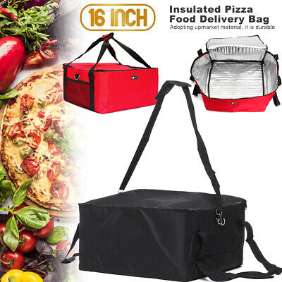 16 Inch Large Heavy Duty Pizza Delivery Bag Size 42x42x23cm Insulated Bag New