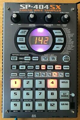 Roland SP-404SX Linear Wave Sampler; instructionmanual, ac adapter, 1 GB card