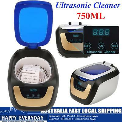 750Ml Digital Stainless Ultrasonic Cleaner Ultra Sonic Bath Cleaning Tank Timer