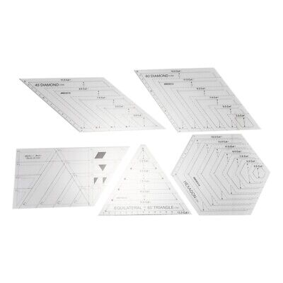 Durable Acolchado Costura Patchwork Craft Escala Regla Transparente DIy Hec D6X1