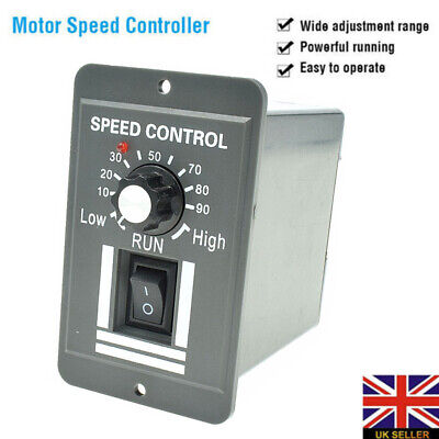 12V 24V 36V 48V PWM DC Motor Speed Controller Adjustable Switch 6A Regulator UK