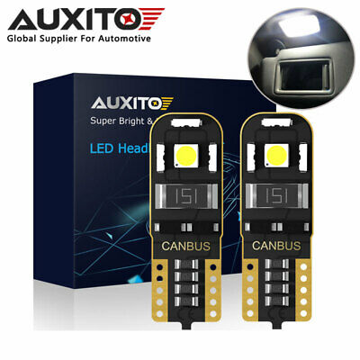 2X AUXITO T10 168 194 W5W LED Interior Dome Side Wedge Light Bulb Error Free