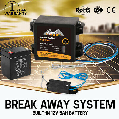 Breakaway System RV Trailer Caravan Switch Towing Battery Electric Break Away