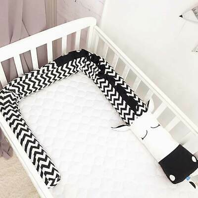 2/3M Zebra Baby Infant Cot Crib Bumper Cotton Toddler Nursery Safety Protector