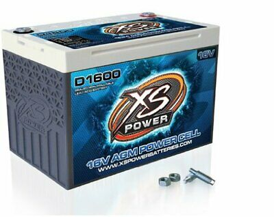 "D1600 Xs Power D1600 16V 2,400 Amp Agm Battery With 3/8"" Stud Terminal"