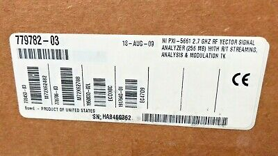 National Instruments PXI-5661 256MB Vector Signal Analyzer PXI-5142 + PXI-5600