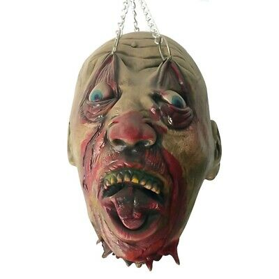 Halloween Party Decor Scary Hanging Head Realistic Bloody Haunted House Horror