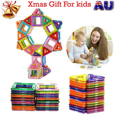 100 pcs Magnetic Toy Building Blocks Set 3D Tiles DIY Toys Xmas Great Gift Kids