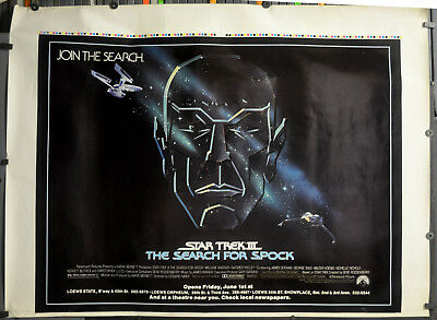 Star Trek III: The Search para Spock 1984 Original 46X60 Película Póster William