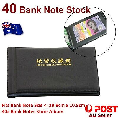 BankNote Album Stock Collection Storage Currency Holder Pocket Coin Paper Money