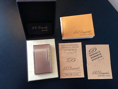 S.T. Dupont Ligne 1 Lighter large - 1980 Boxed with original papers