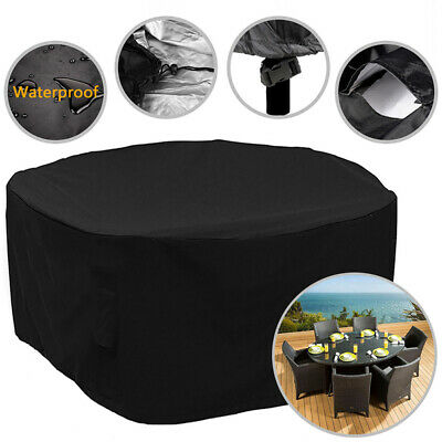 Large Round Waterproof Outdoor Garden Patio Table Chairs Set Furniture Cover UK