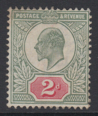 SG 225 2d  Yellow Green & Carmine Red M11 (1) in average mounted mint condition.