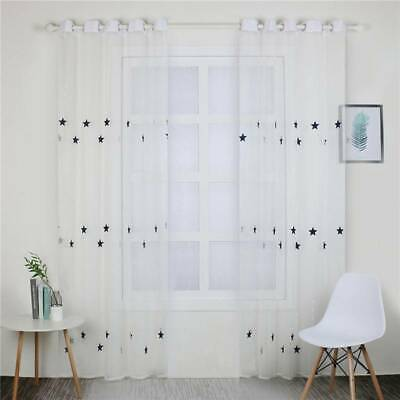 Star Thermal Blackout Curtains Ready Made Kids Boys Girls Window T