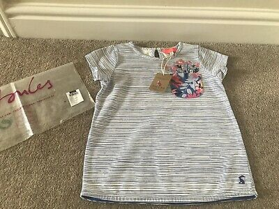 Joules Girls Maggie Blue Flower Top T-Shirt Age 6 Years -  Brand New With Tag
