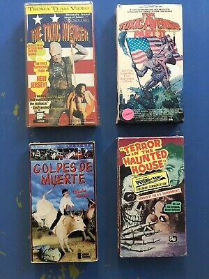 Lot Of 4 Sleazy Gory Horror Films VHS - Toxic Avengers 1+2, Psychovision, Golpes