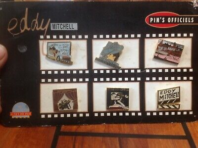 Rare Plaquette Pins Eddy Mitchell - Chanteur - Rock - Blues - Cinema - Acteur