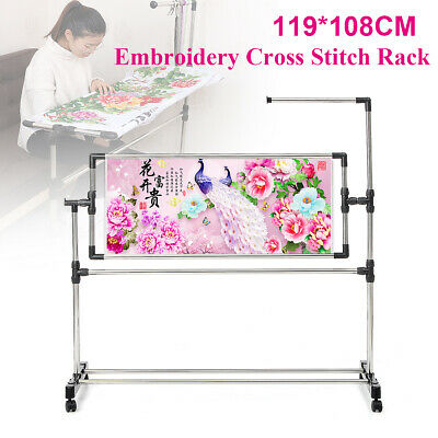 Cross Stitch Frame Adjustable Stand Desktop Embroidery Rack Sewing Craft Tool