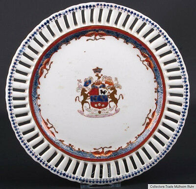 China 18 19. Siglo Plato - a Chino Exportar Armorial Dish Jiaqing Cinese Chinois