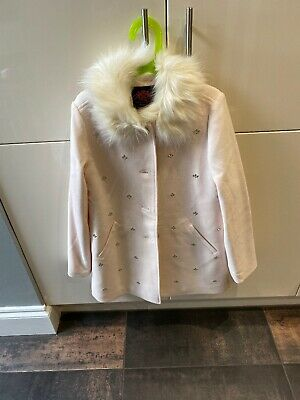 Girls Juicy Couture Coat Age 12 With Crystals Pink Worn Once