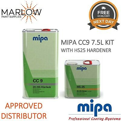Mipa Cc9 Hs Klarlack Clearcoat Lacquer With Hs25 Normal Hardener - 7.5Ltr Kit