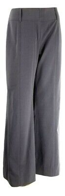 CAbi Size 8 Style #337R Wide Leg Trouser Dress Pants Gray Seamed Career Stretch
