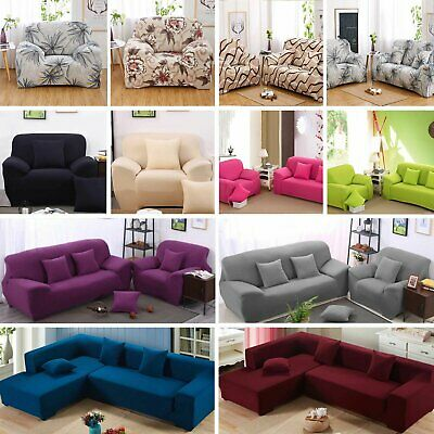 1 2 3 4 Seater Elastic Stretch Sofa Cover Lounge Protector Couch Chair Slipcover