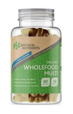 Natural Nutrients Organic Male Wholefood Multi  60 Capsules