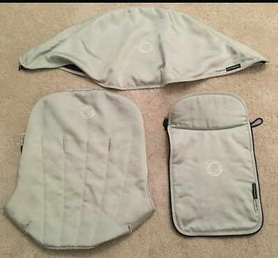 Bugaboo cameleon sliver fabric set Hood, apron and seat cover limited edition