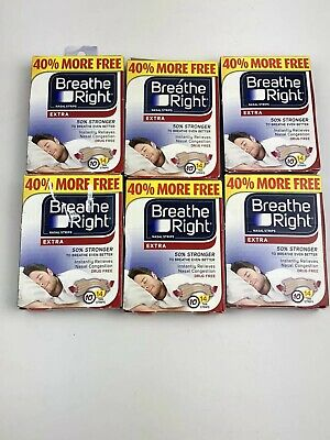 New 6 Boxes Breathe Right Nasal Strips 14 Ct Total 84 Tan Strips Sleeping Aid
