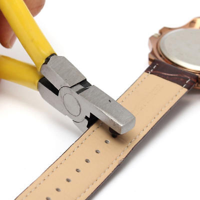 Watch Hole Punch Plier Eyelet Leather Hand Repair Tools Band Strap Link Belt RF