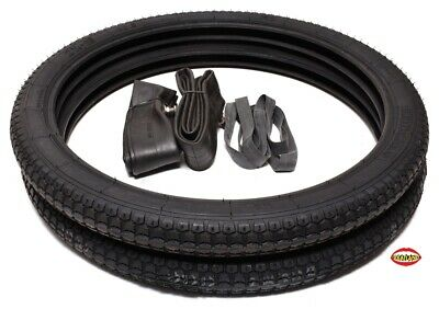 "Puch Sears All State Moped 19"" Tire Pack Classic Tread"
