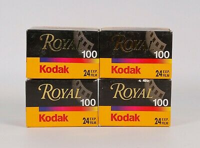 Pack of 4 Kodak ROYAL 100 24 Exp. Color 35mm Film, Expired 03.2004