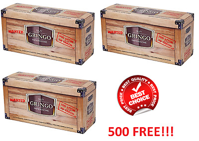 1500 (2x500 + 500FREE) EMPTY CIGARETTE FILTER TUBES WRB GRINGO MAKE YOUR OWN