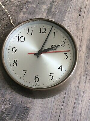 Vintage Retro Synchronome Electic Industrial / Post Office Clock E II R 1965