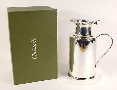 Christofle Albi Silver Plated Large Insulated Thermos Flask w/Box • 1 Liter