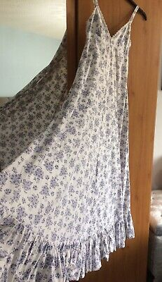 Laura Ashley Vintage Floral 100% Cotton Prairie Dress Made in Wales Size 10