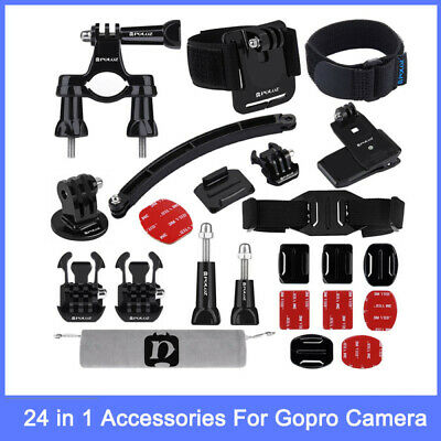 1Unit 24in1 Action Camera Accessories Kit For GoPro NEW HERO /HERO7 /6 /5 /5 Ses
