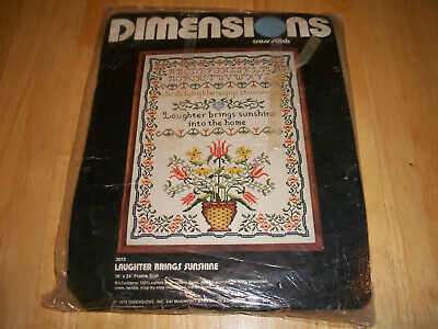 Dimensions Cross Stitch Kit Laughter Brings Sunshine Into The Home #3013 1979