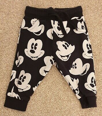 NEXT Disney Mickey Mouse Joggers Jogging Bottoms Size 6-9 Months Excellent Cond