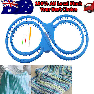 AU Round Looms Knitting Knitter Ring Set Craft Tool For Sock Scarf Hat Sweater