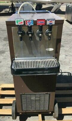 Quick cooling refill fountain drink machine cold drink soda dispenser w/ wheels