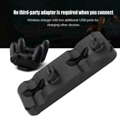 Charger Dual USB Charging Dock Station Stand for Sony PS4 PlayStation 4 Pro/Slim