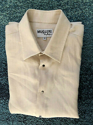Luxurious Shirt Linen Beige Thierry Mugler Size 39 (S) Mint