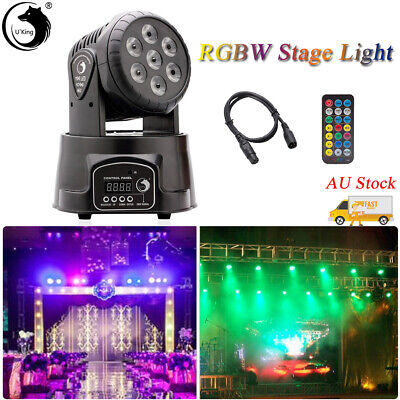 U`King105W 7LEDs RGBW Moving Head Stage Light DMX Disco Party Bar Remote Control
